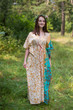 """Timeless"" kaftan in Falling Leaves pattern"