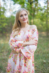 """Serene Strapless"" kaftan in Floral Posy"