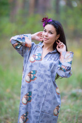 """Mandarin On My Mind"" kaftan in Butterfly Baby pattern"