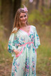 """Breezy Bohemian"" kaftan in Blooming Flowers pattern"