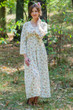 """Button me down"" kaftan in Tiny Blossoms pattern"