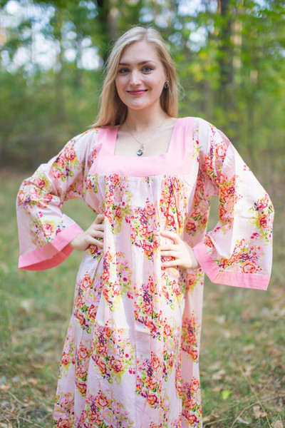 """Fire Maiden"" kaftan in Floral Posy pattern"