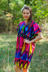 """Sunshine"" Tunic Dress kaftan in Glowing Flame"