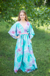 """Breezy Bohemian"" kaftan in Watercolor Splash pattern"