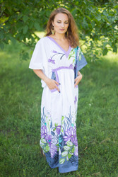 """Breezy Bohemian"" kaftan in Jungle of Flowers pattern"