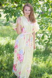 """Best of both the worlds"" kaftan in Cabbage Roses pattern"