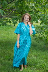"""Best of both the worlds"" kaftan in Chevron pattern"