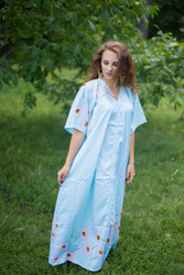 """Best of both the worlds"" kaftan in Falling Daisies pattern"