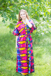"""""""Best of both the worlds"""" kaftan in Glowing Flame pattern"""