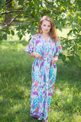 """Best of both the worlds"" kaftan in Ikat Aztec pattern"