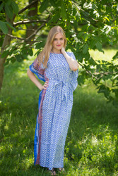 """Divinely Simple"" kaftan in Geometric Chevron pattern"