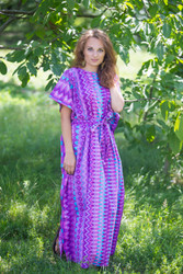 """Divinely Simple"" kaftan in Geometric pattern"