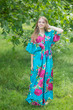"""""""Best of both the worlds"""" kaftan in Large Fuchsia Floral Blossom pattern"""