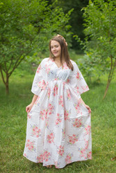 """I wanna Fly"" kaftan in Faded Flowers pattern"