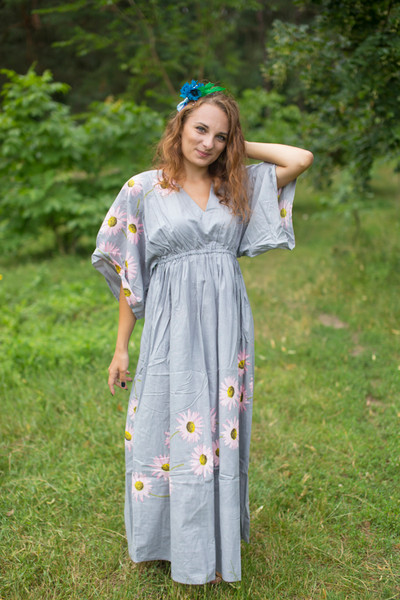 """I wanna Fly"" kaftan in Falling Daisies pattern"