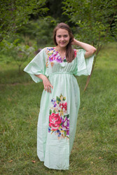"""I wanna Fly"" kaftan in One Long Flower pattern"