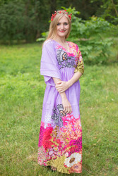 """I wanna Fly"" kaftan in Vibrant Foliage pattern"