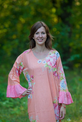 """""""Frill lovers"""" kaftan in Cabbage Roses pattern"""