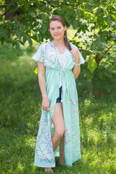 """Beach Days"" kaftan in Cherry Blossoms pattern"