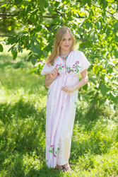 """Beach Days"" kaftan in Climbing Vines pattern"