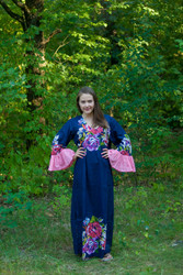 """Frill lovers"" kaftan in One Long Flower pattern"