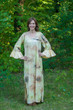 """Frill lovers"" kaftan in Watercolor Splash pattern"
