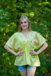 """Timeless"" kaftan Top in Cherry Blossoms pattern"