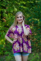 """Timeless"" kaftan Top in Floral Posy pattern"