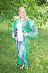 """""""Boho-Chic"""" Kimono jacket in Abstract Floral pattern"""