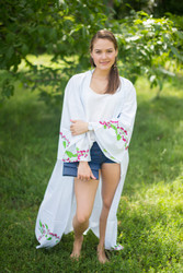 """Boho-Chic"" Kimono jacket in Climbing Vines pattern"