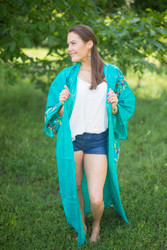 """Boho-Chic"" Kimono jacket in Little Chirpies pattern"