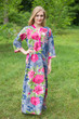 """Simply Elegant"" kaftan in Large Fuchsia Floral Blossom pattern"