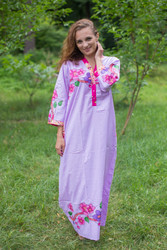 """Simply Elegant"" kaftan in Swirly Floral Vine pattern"