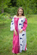 """""""Serene Strapless"""" kaftan in Floral Perfectly Paisley pattern"""
