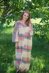 """""""The Glow Within"""" kaftan in Abstract Geometric pattern"""