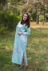 """The Unwind"" kaftan in Cherry Blossoms pattern"