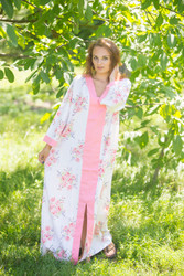 """The Glow Within"" kaftan in Faded Flowers pattern"