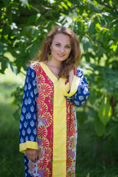 """The Glow Within"" kaftan in Floral Bordered pattern"