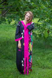 """The Glow Within"" kaftan in Jungle of Flowers pattern"