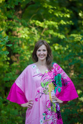 """Ballerina"" kaftan in Jungle of Flowers pattern"
