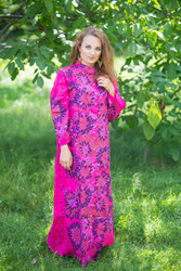 """""""Charming Collars"""" kaftan in Abstract Floral pattern"""