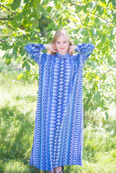 """Charming Collars"" kaftan in Geometrica pattern"