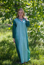 """Charming Collars"" kaftan in Ombre TieDye pattern"