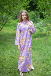 """Mandarin On My Mind"" kaftan in Flower Rain pattern"
