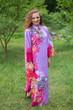 """Mandarin On My Mind"" kaftan in Vibrant Foliage pattern"