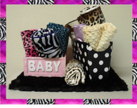 Animal Print Baby Blanket customized to your color specifications and size.