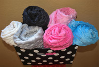 Minky Dot Baby Blanket customized to your color specifications and size.