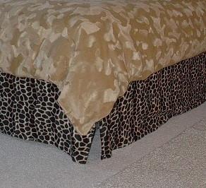 animal print bed skirt