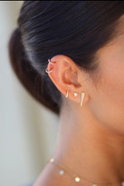 Pave diamond triangle earrings
