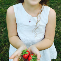 Ruby Apple Kids Necklace